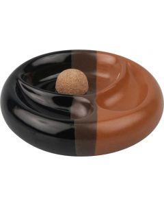 Pibeaskebæger Keramik Brun/sort