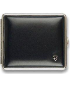 Cigaretetui soft leather black/nickel