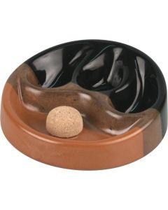 Pibeaskebæger Keramik Sort/Brun