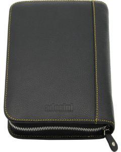 Adorini Cigar Bag Real Leather Yellow Topstitching