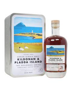 The Arran Malt, Kildonan & Pladda Island 21 Y.O. Explorers Vol. 3, 50,4% 70 cl.