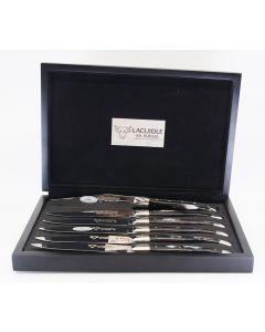 Laguiole En Aubrac - Steakknive i Pressed Horn - 6 stk