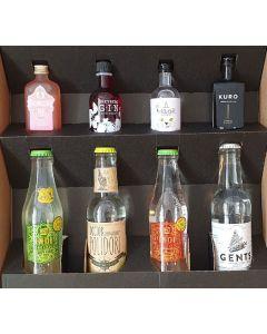 No. 3 Smagekasse m. 4 forskellge gin samt 4 forskellige tonic
