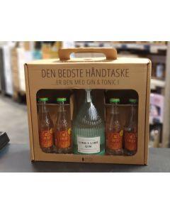 Lind & Lime Gin håndtaske m. 4 fl. Indi tonic, 44 %