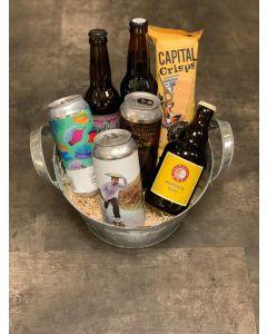 Lille ølkurv til afhentning i forretningen