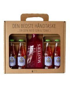 Master's Pink Dry håndtaske m. 4 Indi Strawberry tonic, 37,5%