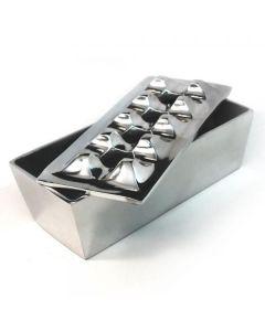 Polished Aluminum Grid Cigar Ashtray