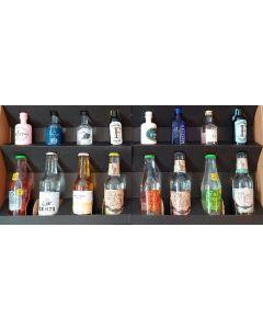 No. 2 Smagekasse m. 8 forskellge gin samt 8 forskellige tonic