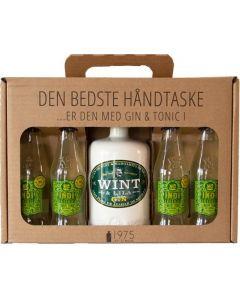 Wint & Lila Dry Gin håndtaske m. 4 fl. Lemon tonic, 40%