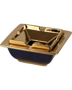 Salon askebæger i Keramik blå/guld