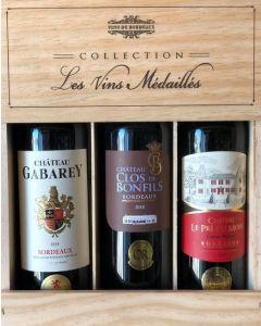Collection Vins Medailles d'Or i 3 stk. trækasse