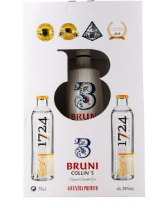 Bruni Collin's gaveæske m. 2 fl. 1724 tonic, 39%