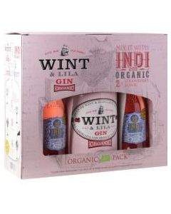Wint & Lila Strawberry Gin gaveæske m. 2 fl. Indi Jordbær tonic, 37,5 cl.