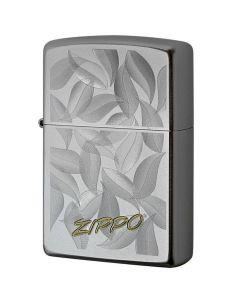 Zippo Satin Chrome Auto two tone