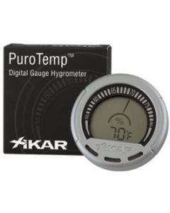 Xikar Digital Gauge Hygrometer - Silver