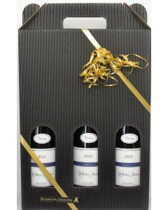 3 fl. vin i gaveæske