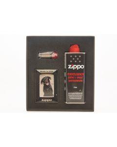 Zippo gaveæske m. lighter Black lab