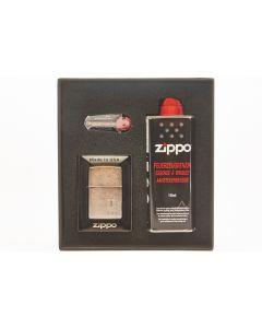 Zippo gaveæske m. lighter anker