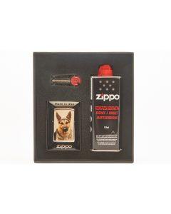 Zippo gaveæske m. lighter schæfer