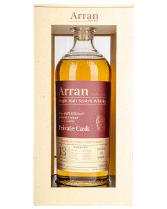 The Arran Malt, Private Cask 13 Y.O. 1. fill Bourbon Barrel, 59% 70 cl.