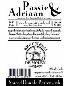 De Molen - Passie & Adriaan 33 cl.