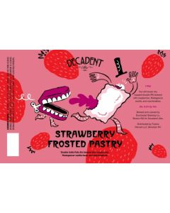 Decadent Ales - Strawberry Frosted Pastry 44 cl.