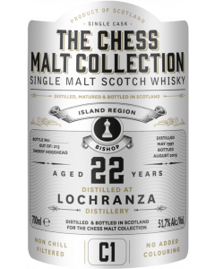 The Chess Malt Collection, Lochranza 22 Y.O., 51,7% 70 cl.