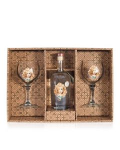Daffy's Small Batch Gin gaveæske m. 2 originalglas, 43,4% 70 cl.