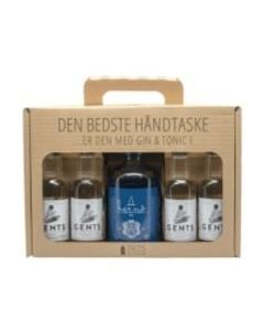 Hernö Gin håndtaske m. 4 fl. Gents tonic, 41,5%