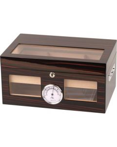 Luksus Humidor i ebony finish til 100 cigar