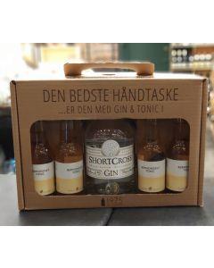 Shortcross Gin håndtaske m. 4 fl. Bermondsey tonic, 46%