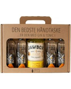 Jawbox Pineapple & Ginger håndtaske m. 4 fl. BTW Tonic, 20%