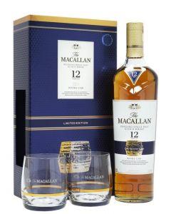 MacAllan 12 Y.O. Double Cask i gaveæske m. 2 glas, 40%