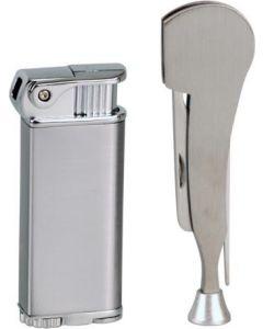 SKY piezo pipe lighter + pipe tool i sort gaveæske