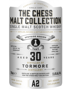 The Chess Malt Collection, Tormore 30 Y.O., 51,4% 70 cl.