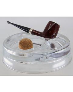 Rundt pibe askebæger i glas