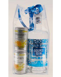 Source Gin gavepose m. 4 fl. Folkington's tonic