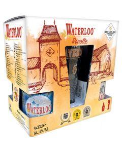 Waterloo Gaveæske m/ 4 øl og Glas